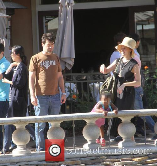 Ron Livingston, Rosemarie Dewitt and Gracie James Livingston