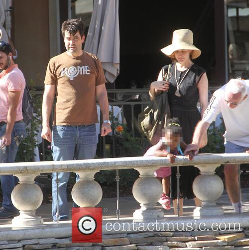 Ron Livingston and family at The Grove