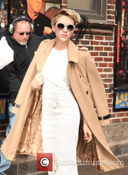 Scarlett Johansson arriving at the 'Late Show with...