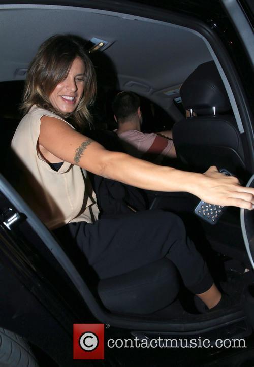 Elisabetta Canalis leaving Craig's