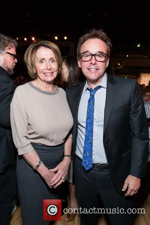 The Honorable Nancy Pelosi and Chris Columbus 8