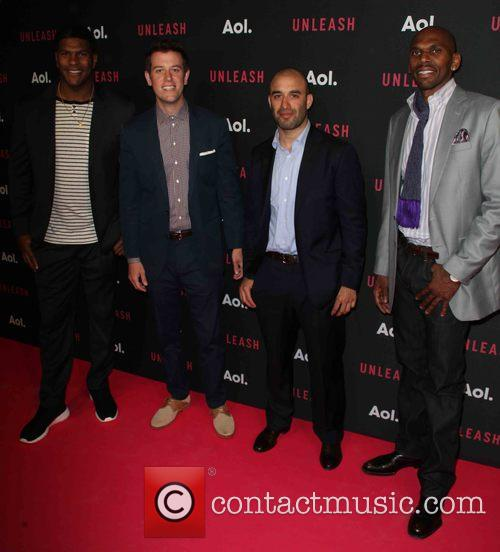Gomez, (l-r) Professional Football Player Julius Thomas, Tv Personality Ben Lyons and Professional Basketball Player Jerry Stackhouse 2