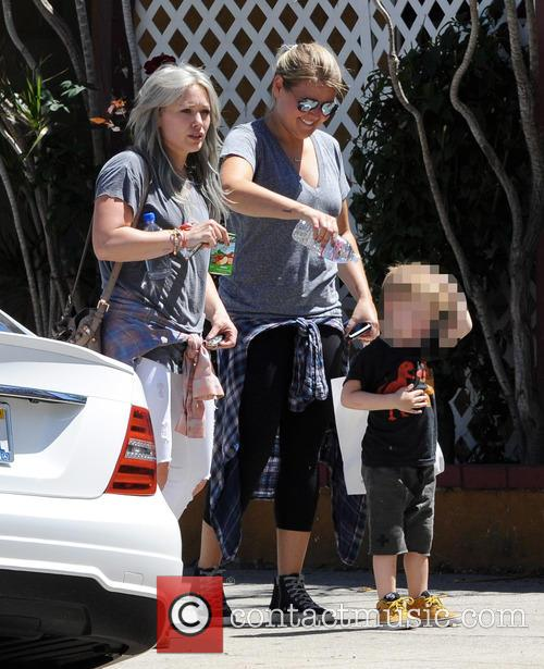 Hilary Duff takes her son Luca to The...