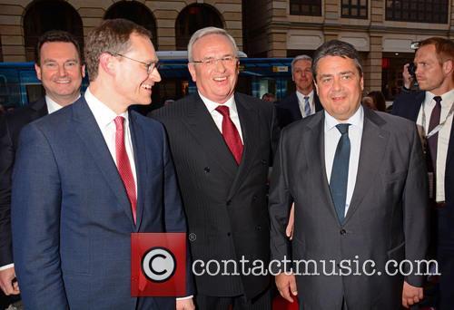 Stephan Gruehsem, Michael Mueller, Martin Winterkorn and Sigmar Gabriel 2
