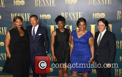 L To R, Queen Latifah, Richard Plepler, Dee Rees, Mo'nique and Len Amato 3