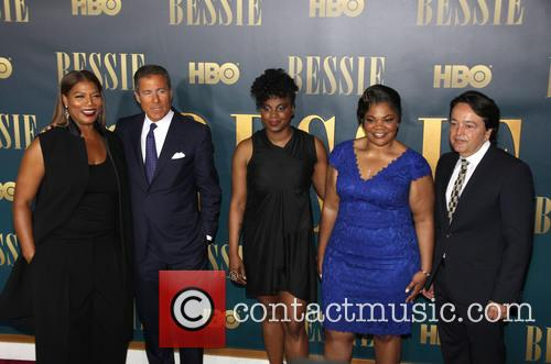 L To R, Queen Latifah, Richard Plepler, Dee Rees, Mo'nique and Len Amato 1