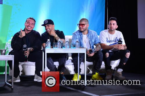 J Balvin, Nicky Jam, Farruko and Justin Quiles 2