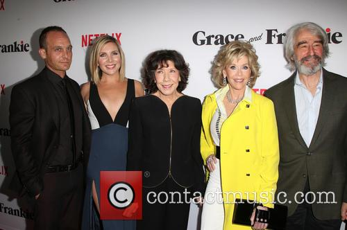 Ethan Embry, June Diane Raphael, Lily Tomlin, Jane Fonda and Sam Waterston