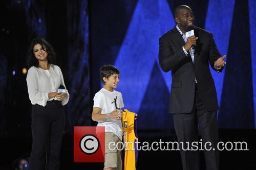 Selena Gomez, Ezra Frech and Earvin