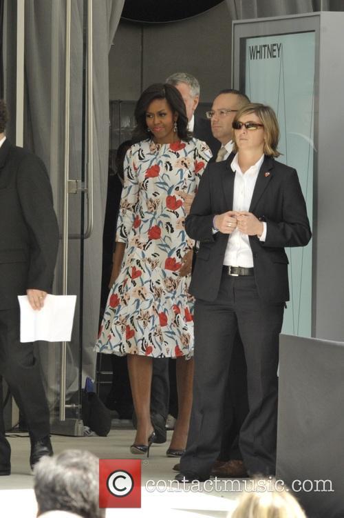 Michelle Obama and Mayor Bill Deblasio 2