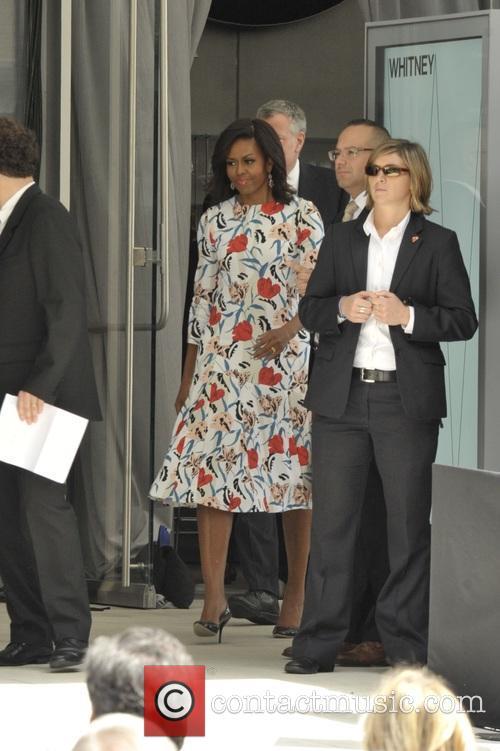 Michelle Obama and Mayor Bill Deblasio 3