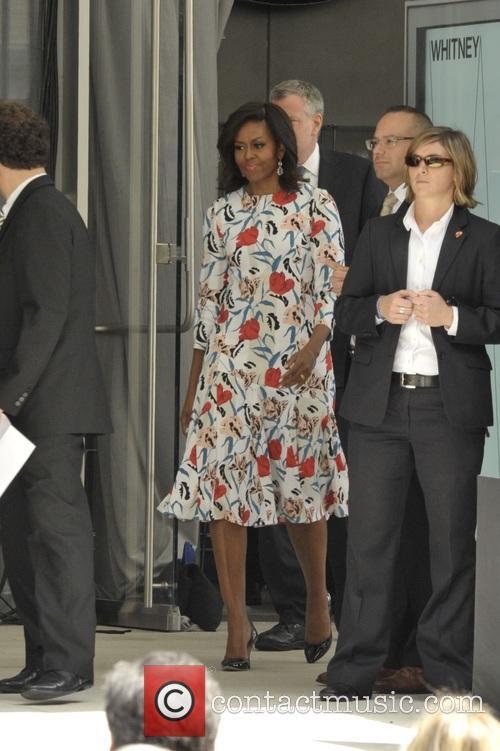 Michelle Obama and Mayor Bill Deblasio 4