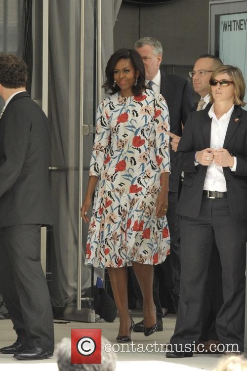 Michelle Obama and Mayor Bill Deblasio 5