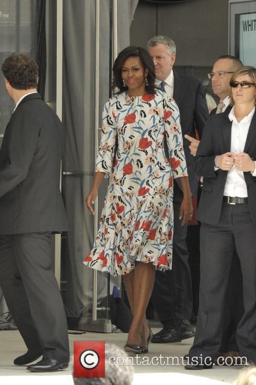 Michelle Obama and Mayor Bill Deblasio 6