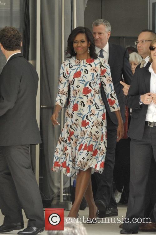 Michelle Obama and Mayor Bill Deblasio 7
