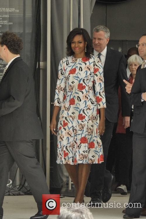 Michelle Obama and Mayor Bill Deblasio 9