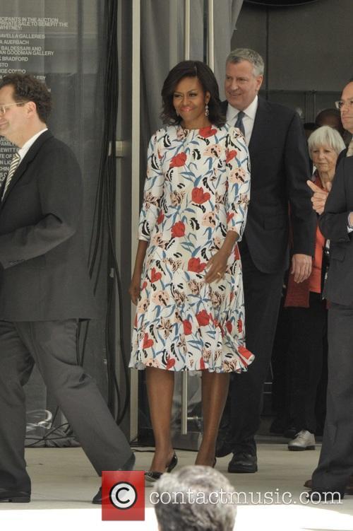 Michelle Obama and Mayor Bill Deblasio 10
