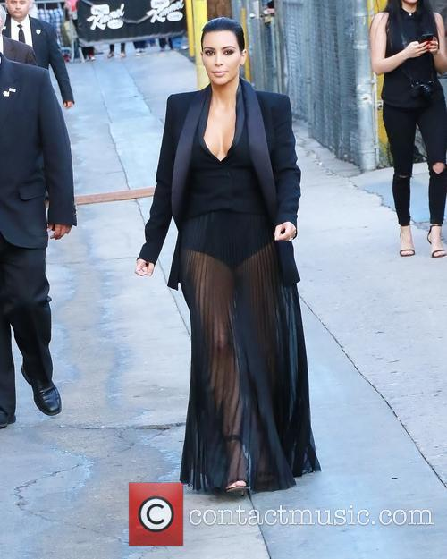 Kim Kardashian arriving for 'Jimmy Kimmel Live!'