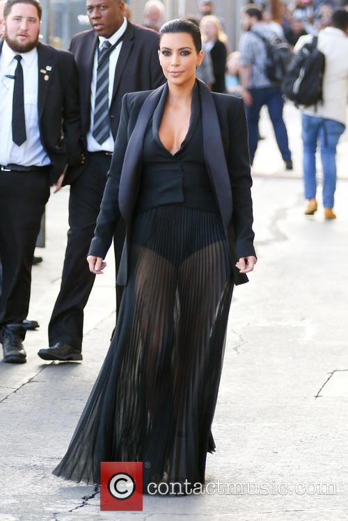 Kim Kardashian arriving for Jimmy Kimmel Live!