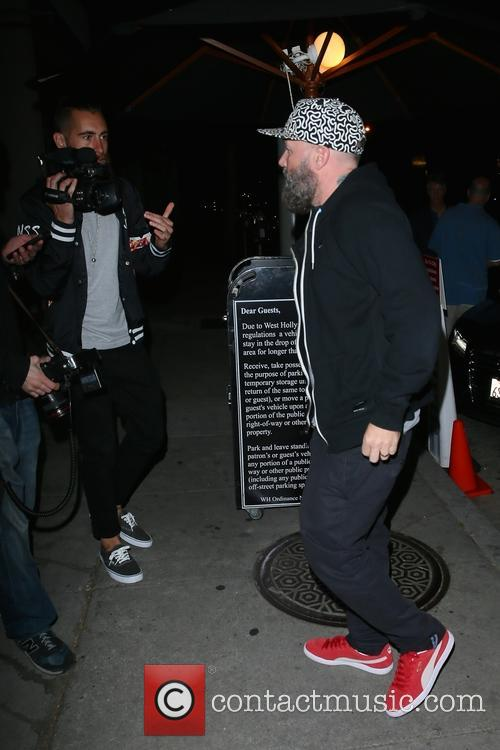 Fred Durst arriving for late dinner at Craigs