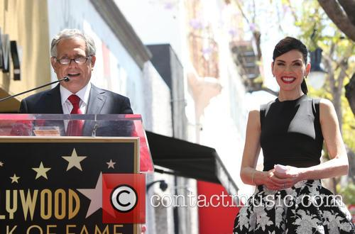 Leslie Moonves and Julianna Margulies 7