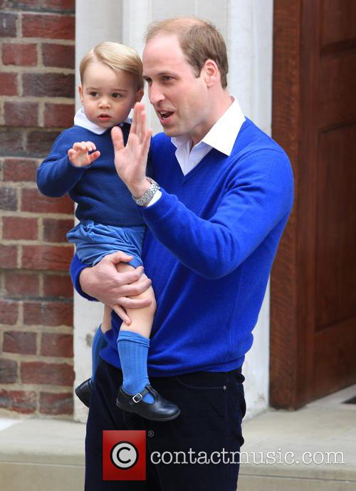 Prince William, Duke Of Cambridge and Prince George 1