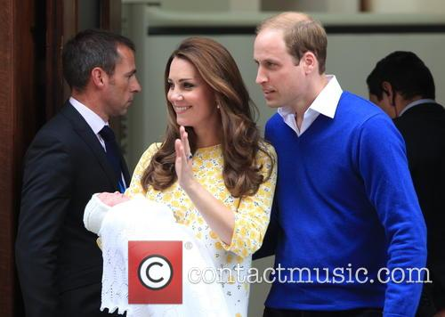 Catherine, Duchess Of Cambridge, Prince William, Duke Of Cambridge and Princess Of Cambridge 1