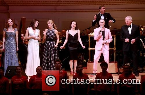 Rachel York, Laura Benanti, Kelli O'hara, Bebe Neuwirth, Alan Cumming and Victor Garber