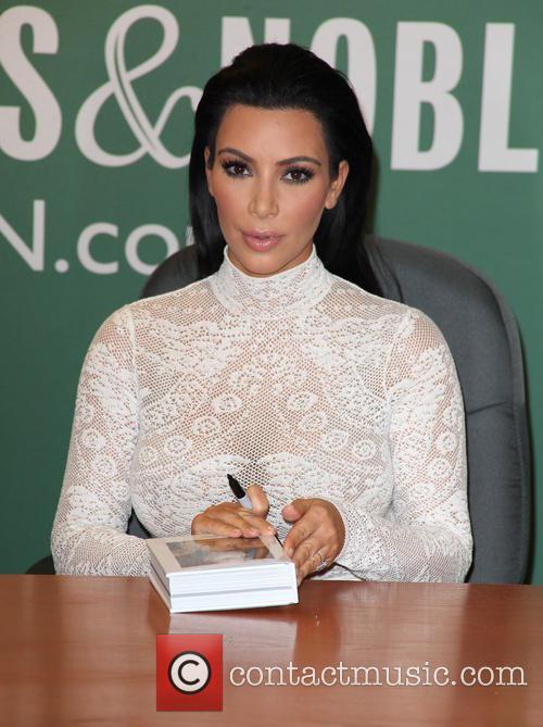 Kim Kardashian appears at Barnes & Noble for...