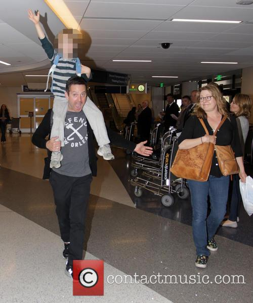Thomas Lennon arrives at Los Angeles International Airport