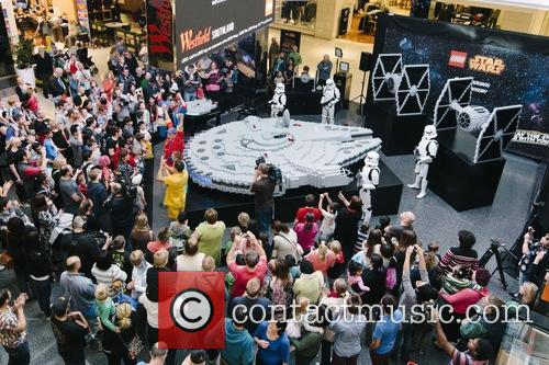Lego masters build world's largest Millennium Falcon for...