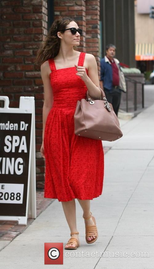 Emmy Rossum running errands in Beverly Hills