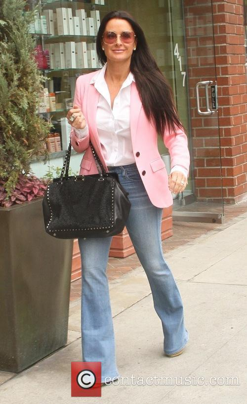 Kyle Richards goes shopping in Beverly Hills