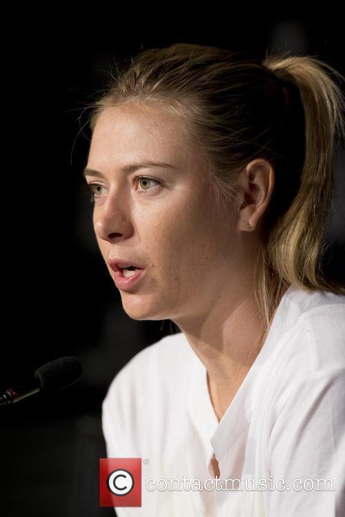 Maria Sharapova attends a press conference