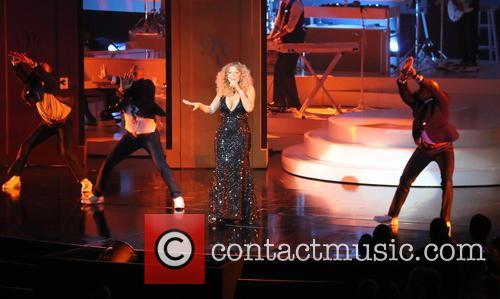 Mariah Carey performing live on stage