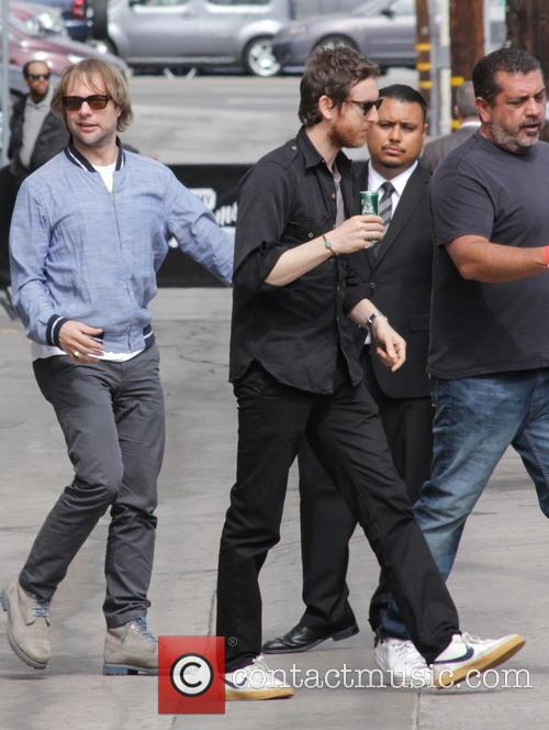 Maroon 5 arrive at Jimmy Kimmel Live!