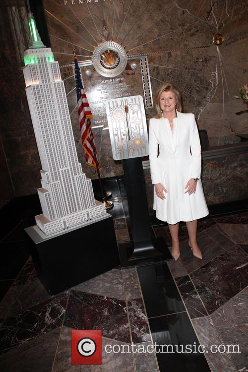 Arianna Huffington lights The Empire State Building