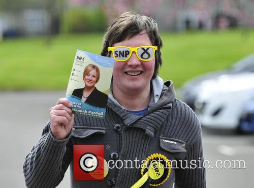 Scottish National Party (SNP) candidate, Hannah Bardell casts...