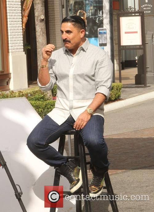 Reza Farahan does an interview at The Grove