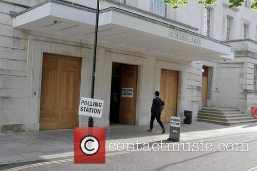 Polling Station and Hackney Town Hall 1