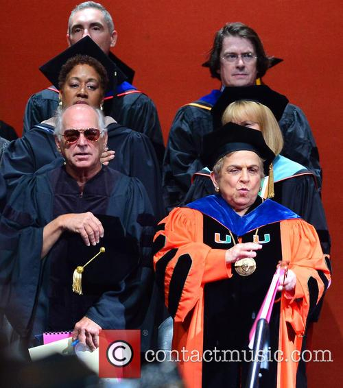 Jimmy Buffett and Donna E. Shalala 3