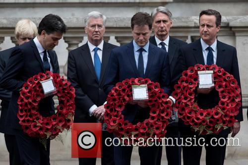 David Cameron, Nick Clegg, Ed Miliband, Michael Fallon and Philip Hammond 5