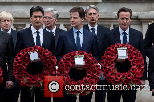 David Cameron, Nick Clegg, Ed Miliband, Michael Fallon and Philip Hammond 6