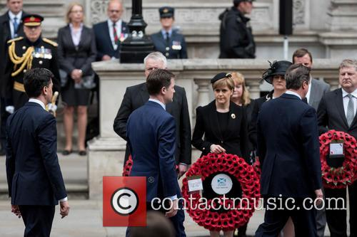 Ed Miliband, Nick Clegg, David Cameron and Nicola Sturgeon 9