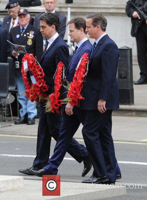Ed Miliband, David Cameron and Nick Clegg 4