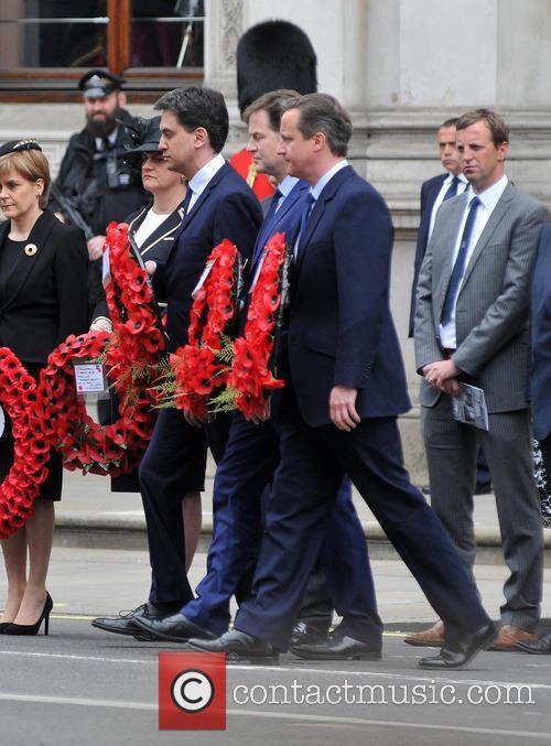 Nicola Sturgeon, Ed Miliband, Nick Clegg and David Cameron 3