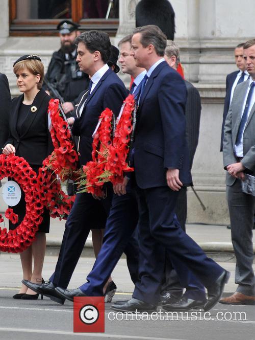 Nicola Sturgeon, Ed Miliband, Nick Clegg and David Cameron 4