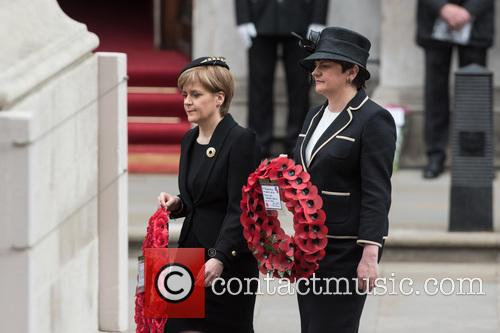 VE Day 70th Anniversary service at the Cenotaph