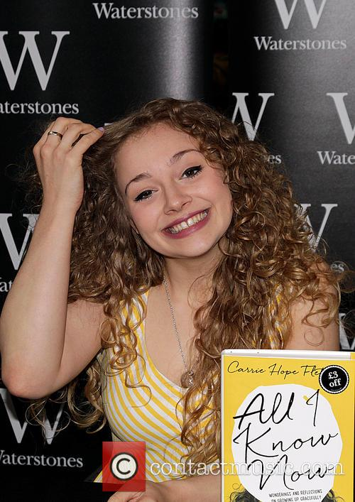 Carrie Hope Fletcher signs copies of her new...