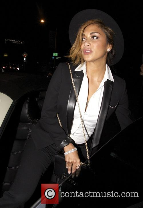 Nicole Scherzinger leaves Craig's restaurant with a friend